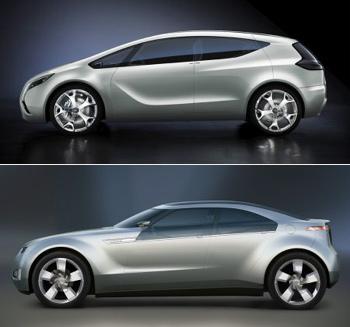 Opel Flextreme vs. Chevy Volt