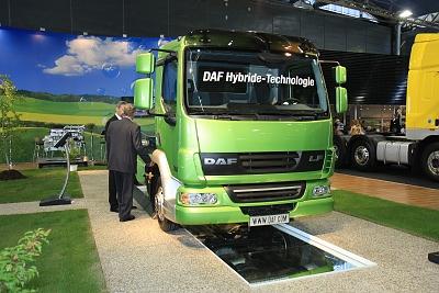 Hybridní pohon - trucky DAF