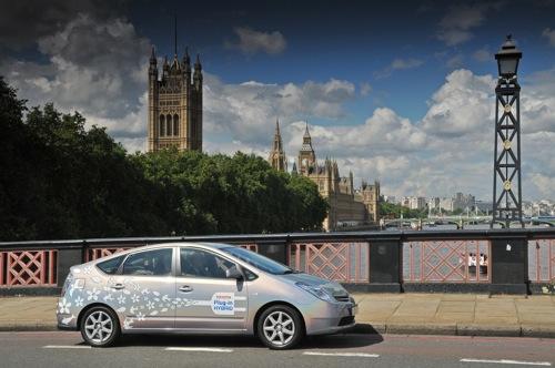 Toyota Prius - testy v Londýně