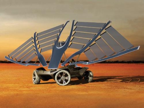 designový koncept elektromobilu/solární buginy Helios