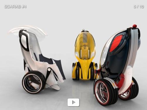 koncept elektromobilu Scarab