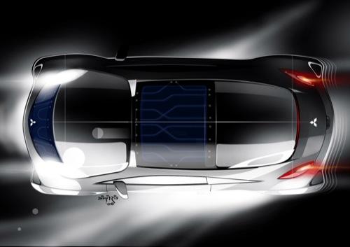 sportovní elektromobil Mitsubishi iMiEV Sport Air pro Ženevský autosalon