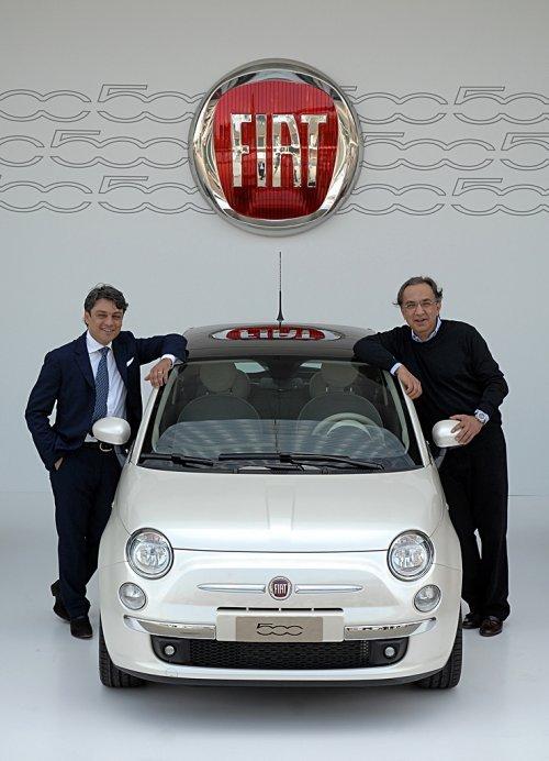 Luca de Meo a Sergio Marchionne Fiat 500