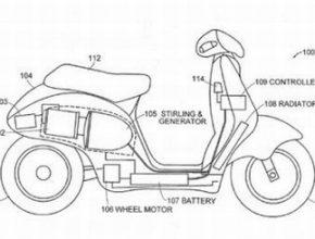 návrh elektroskútru Deana Kamena s využitím Stirlingova motoru