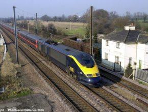 Británie - vlaky - železnice- vysokorychlostní tratě