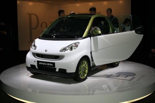 Autosalon IAA Frankfurt 2009 - elektromobil Smart ED