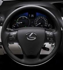 Lexus RX 450h - přístrojová deska