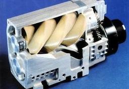auta na páru - parní kompresor