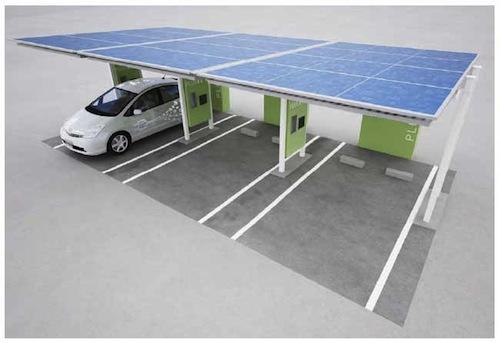 Toyota plug-in - solární dobejecí stanice