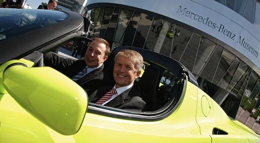 Elektromobily - Daimler - Tesla - Elektrická auta