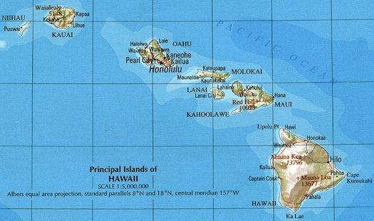 Havaj mapa