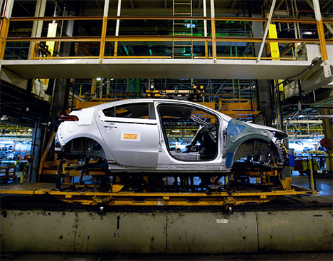 Hybrid.cz - obrázky - Chevrolet Volt výroba továrna