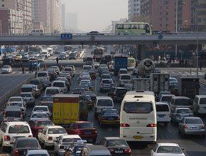 Hybrid.cz obrázky Čína Peking zácpa