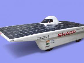 elektromobily - solární automobil - fotovoltaické články Sharp