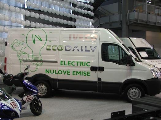 Autosalon Brno - Autotec 2010 - dodávka Iveco EcoDaily Electric