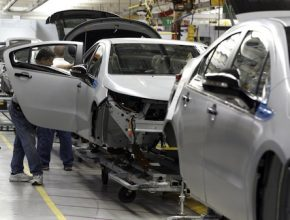 Chevrolet Volt - hybrid - výroba v továrně