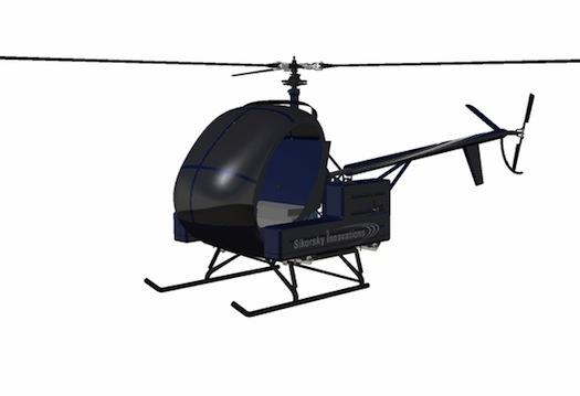 letecká doprava - elektrický vrtulník Sikorsky Firefly