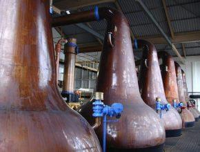 biopaliva - Skotská whisky - destilérka