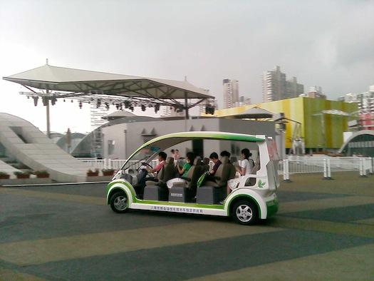 elektromobily - Světová výstava EXPO 2010 - elektrické autobusy