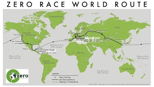 Zero Emission Race - mapa