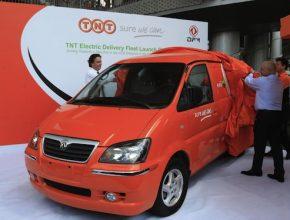 elektromobily - TNT - flotila elektrických dodávek Čína, Šanghaj