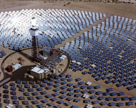solární energie - koncentrační solární elektrárna