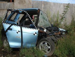 elektromobily - Reva G-Wiz Top Gear crashtest