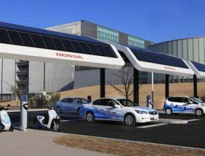 Honda - solární dobíjecí stanice