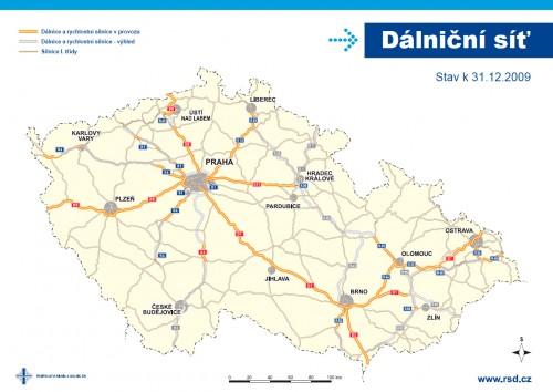 dálniční síť 2009