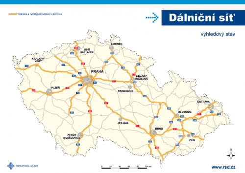 dálniční síť ČR - výhled