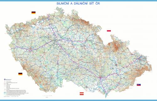 silniční a dálniční síť v ČR k červenci 2010