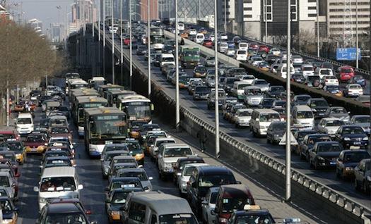 čína autostráda dálnice zácpa Peking