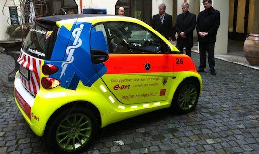 elektromobily Smart ED pražská záchranná služba
