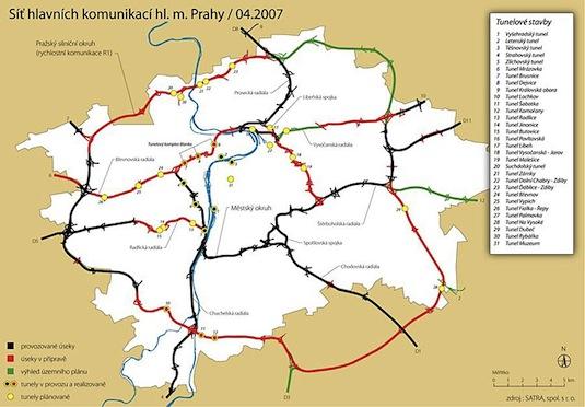 Praha městský pražský okruh