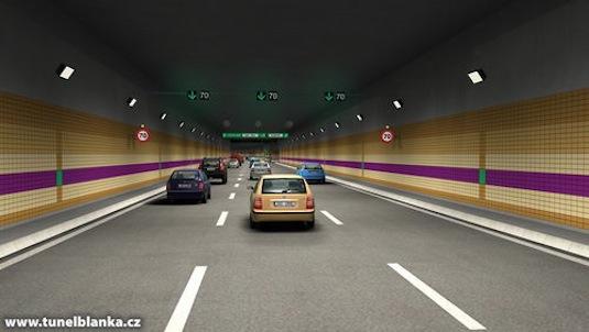 Praha Tunel Blanka Dejvice