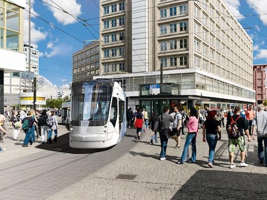 železniční doprava - tramvaj Avenio