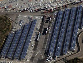 Seat továrna solární panely elektrárna