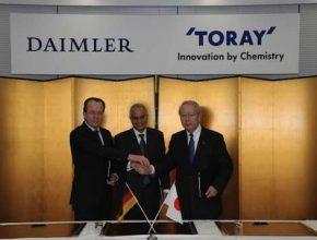 uhlíková vlákna Daimler Toray