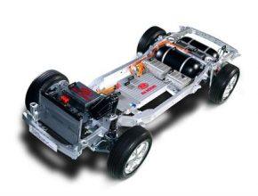 auta na vodík Kia podvozek schéma