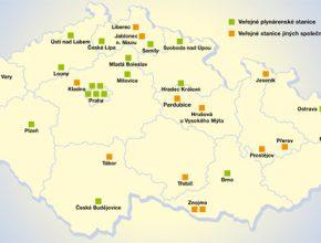 Mapa CNG stanic
