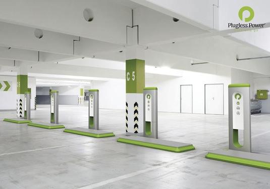 elektromobily bezdrátová dobíjecí stanice plugless power
