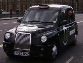 auta na vodík Británie Londýn taxi