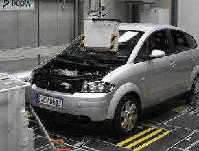 elektromobily DBM Energy Audi A2 přestavba testování KOLIBRI baterie