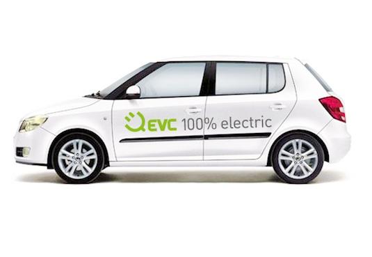 auto elektromobily přestavba Škoda Fabia F3 EVC Group