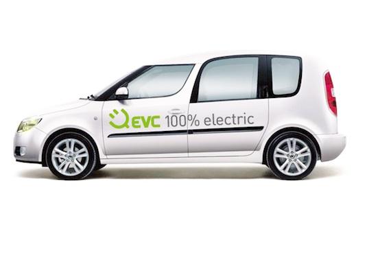 auto elektromobily přestavba Škoda Roomster R3 EVC Group