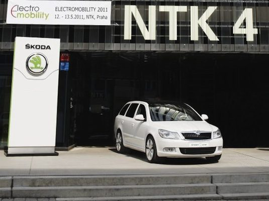auto elektromobil Škoda Octavia Green E Line