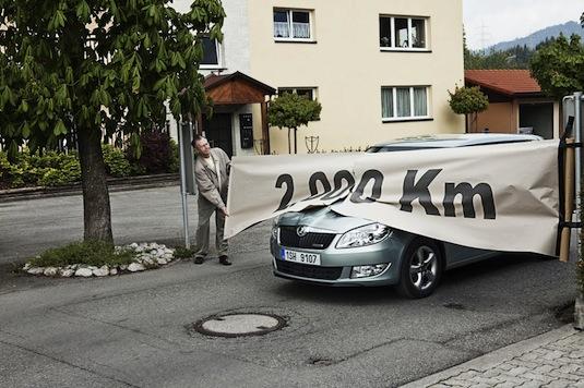 auto Škoda Fabia Greenline 2006 km Dánsko Rakousko