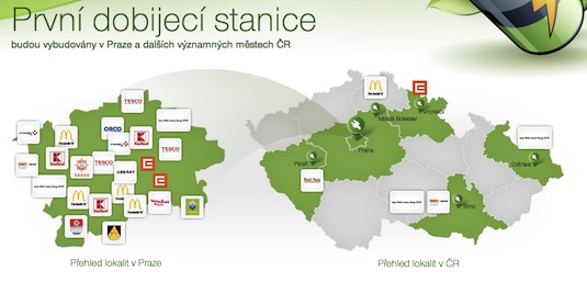 elektromobilita nabíjecí stanice pro elektromobily v Česku