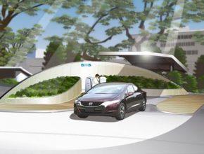 vodíková solární stanice Honda