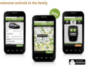 Zipcar aplikace